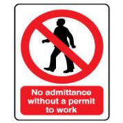 Prohibition safety sign - No Admittance 063